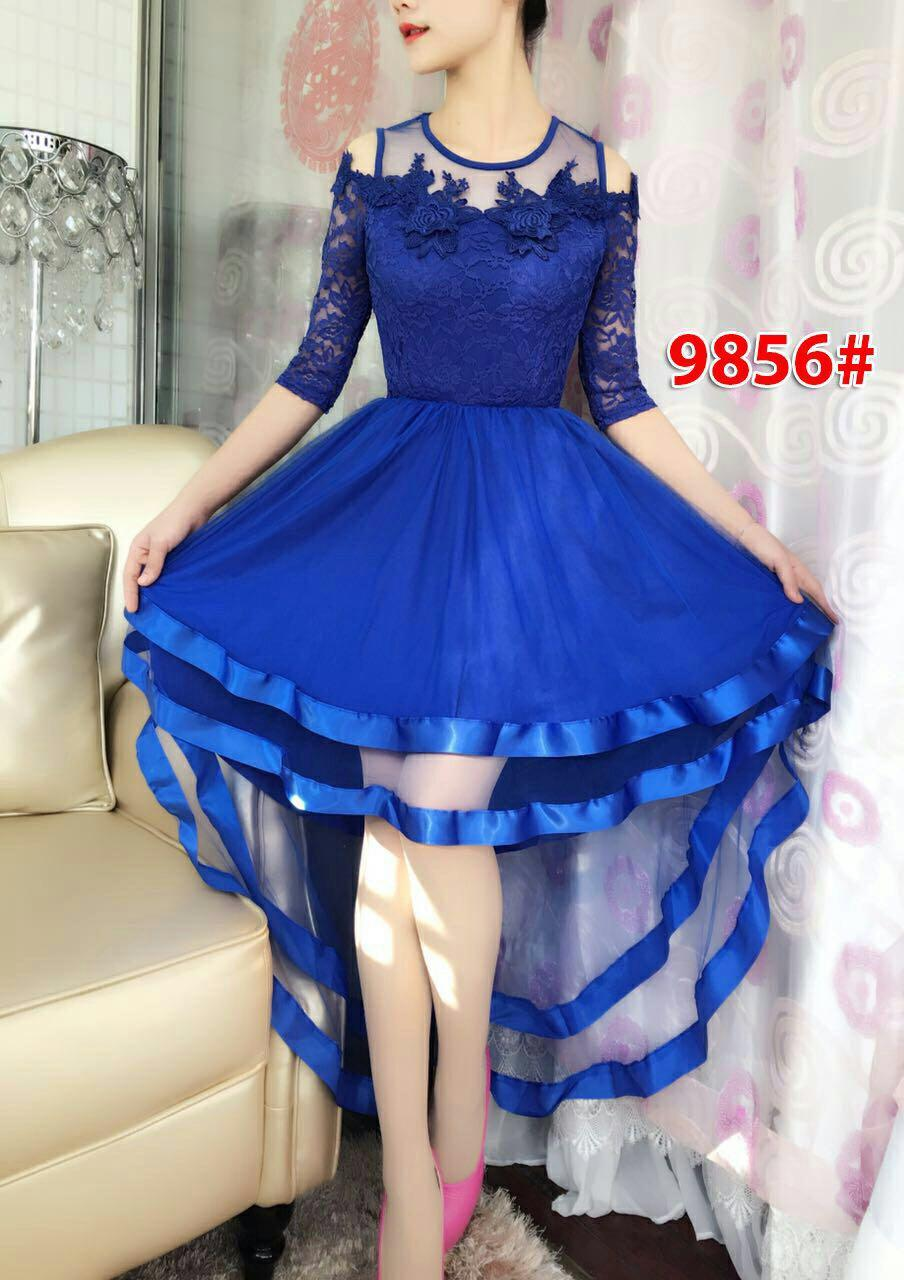9856# baju pesta import / baju seksi / gaun pesta import / baju sabrina/ dress fashion / dres import