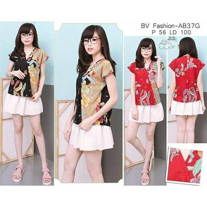 Best Promo!  batik pesta blouse atasan tunik bluss baju wanita xxl xxxl big size Murah!