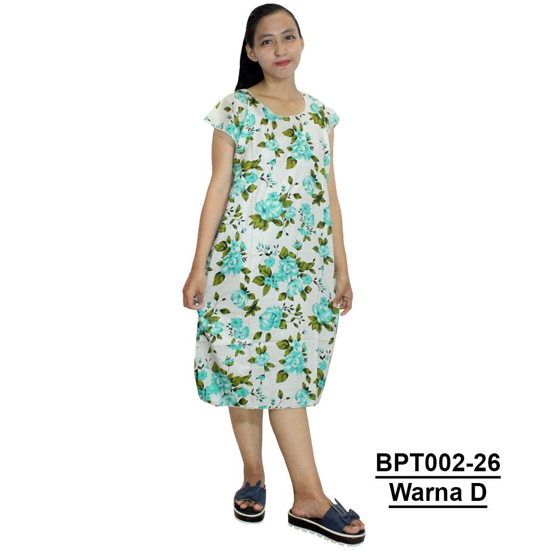 Baju Santai Lingerie Wanita Tidur Piyama Daster Ukuran Jumbo Midi Dress Atasan Batik