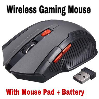 Mouse Wireless GAMING MOUSE MIRIP FANTECH MOUSEPAD and BATTERY GREY