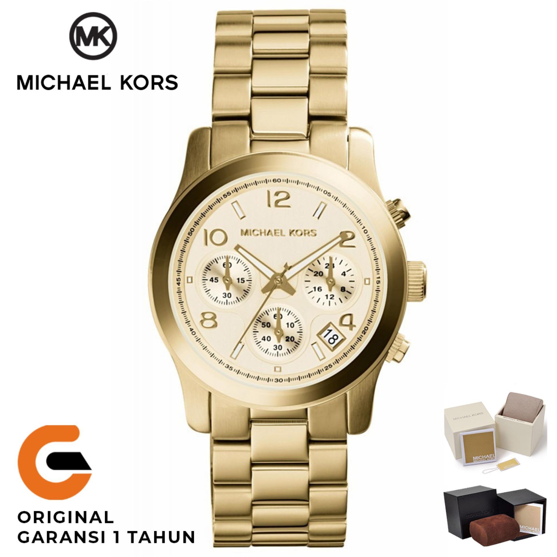 6554d40d26b Michael Kors Watch Original Jam Tangan Wanita Michael Kors Runway MK5662  Tali Rantai Stainless Strap Dial