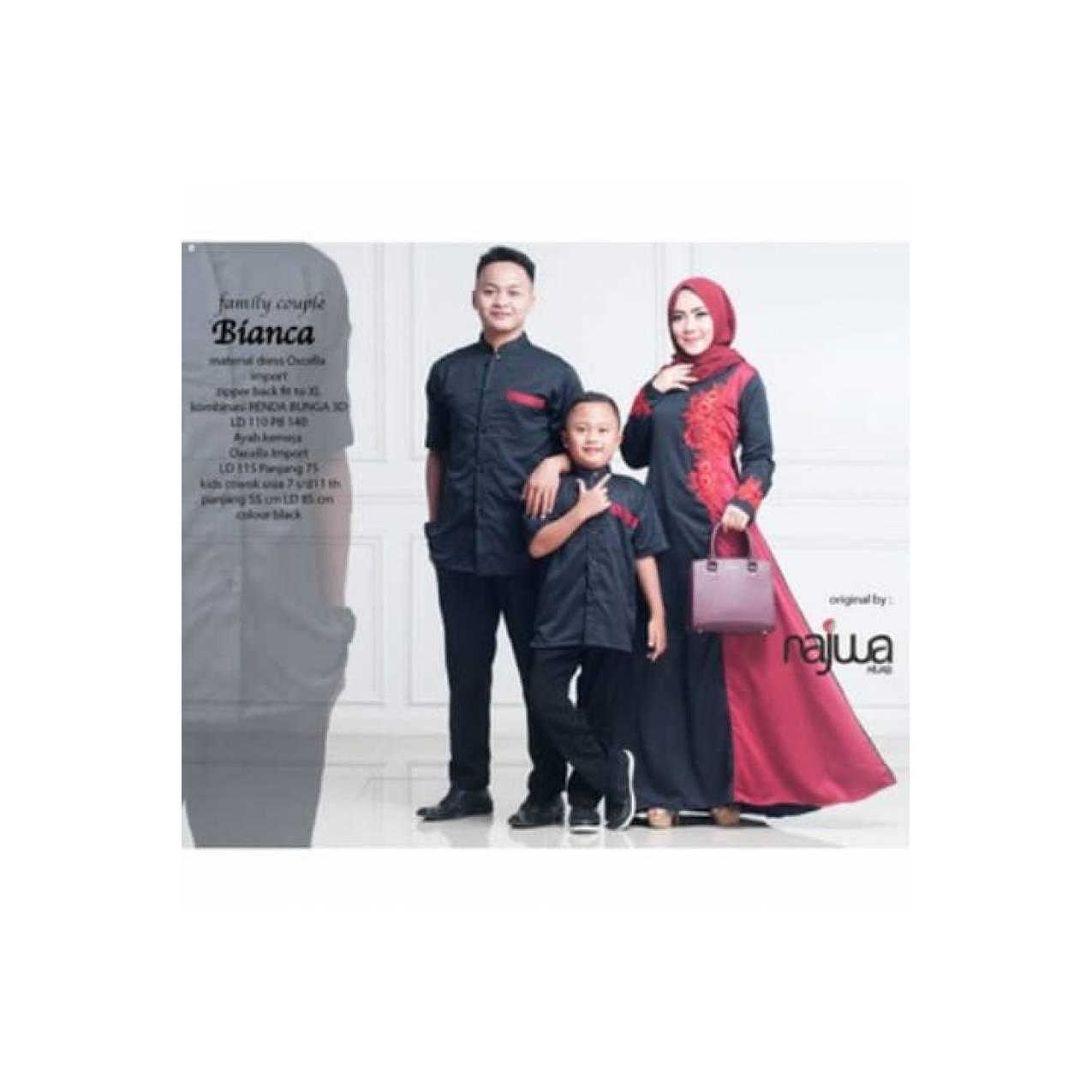 New Produk Terlaris BIANCA COUPLE FAMILY baju muslim ayah ibu anak re