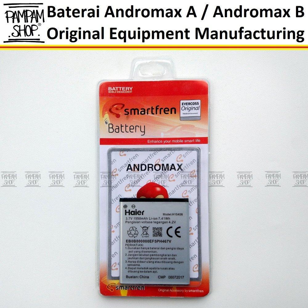 Baterai Handphone Smartfren Andromax A B Original OEM 100% H15408 Batrai Batre Battery HP