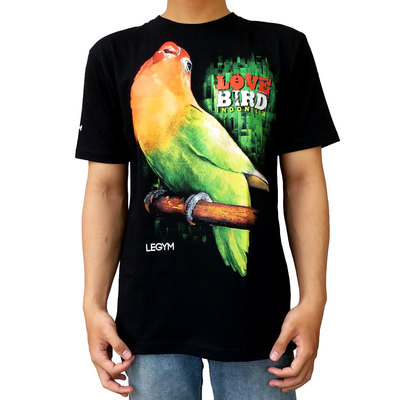Legy'm Kaos Burung Lovebird 02 Hitam