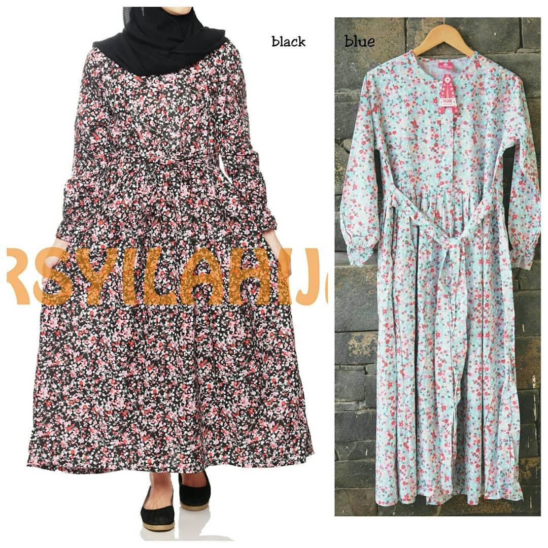 Baju Muslim Original Gamis Annisa Dress Katun Jepang Baju Panjang Muslim Dress Casual Wanita Pakaian Hijab Modern Gamis Modis Trendy Gaun Terbaru