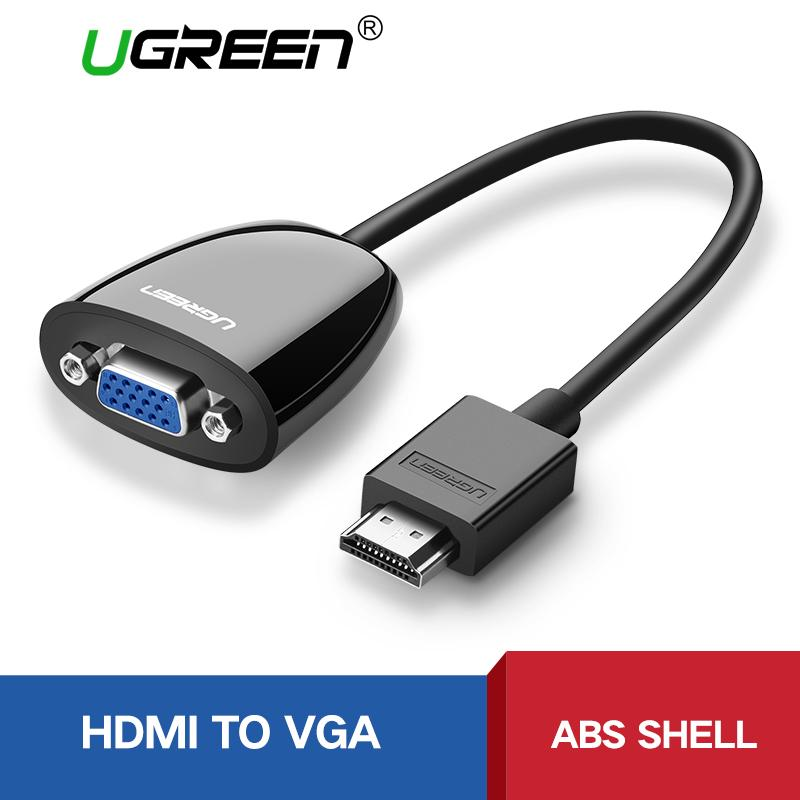 Ugreen Hdmi To Vga Connector Hdmi Vga Audio Adapter 1080p Male To Female Hdmi Vga Converter Cable Black By Ugreen Flagship Store.