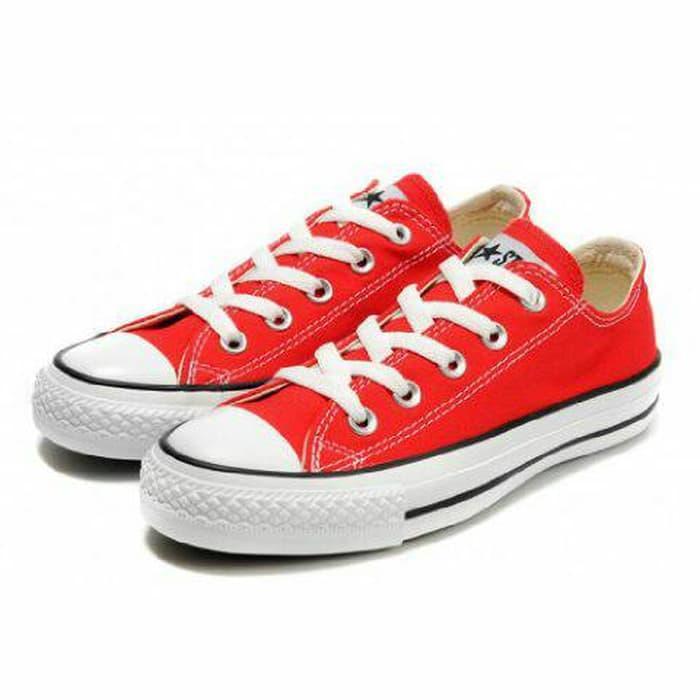 ASLI!!! converse all star warna merah cabe dll pendek - u4FRFh