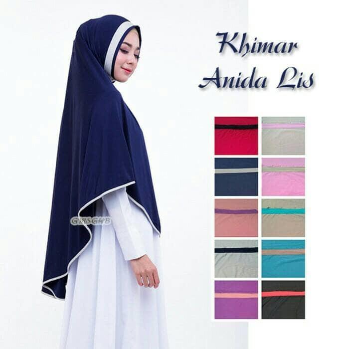 jilbab khimar anida lis bahan jersey zoya - hijab syari A1406