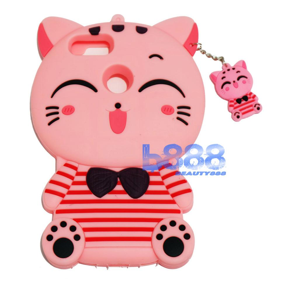 Beauty Pink Cat Case 3D For Xiaomi Mi A1 Silicone 3D Silicone Ultrathin Jelly Case Air Case / Soft Case / Case Boneka Unik / Silicone 3D / Silikon 4D / Silikon Xiaomi Mi A1 / Casing Xiaomi Mi A1 - Kucing Pink