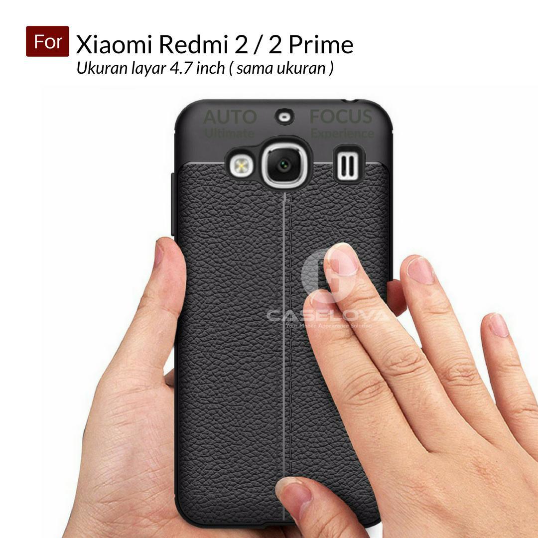 Caselova Ultimate Experience Shockproof Premium Quality Hybrid Case For Xiaomi Redmi 2 , Redmi 2 Prime ukuran layar 4.7 inch ( sama ukuran ) - Hitam