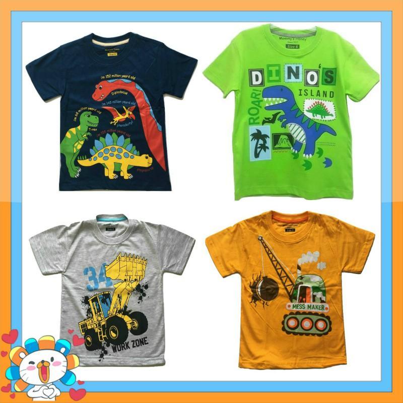 Kaos Anak Karakter - Paket Dinosaurus Isi 4 Buah