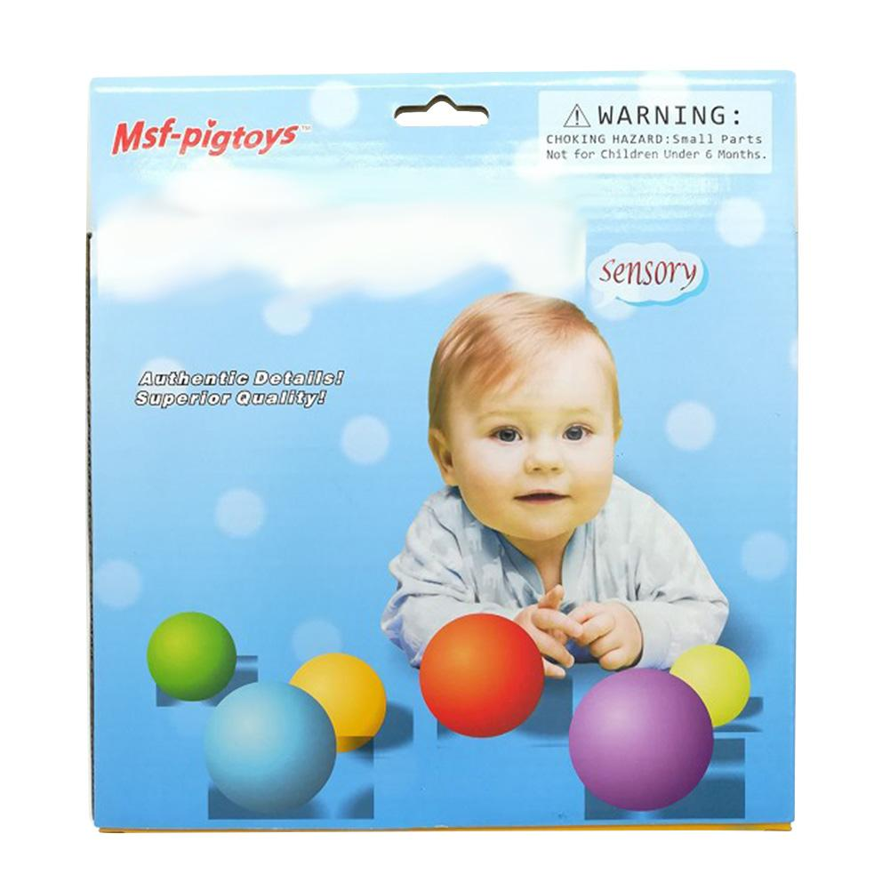 DSstyles 6pcs/Set Baby Educational Grasping Ball Infants Hand Catch Massage Sensory Ball Toys MSF concave and convex ball (6 Pack)