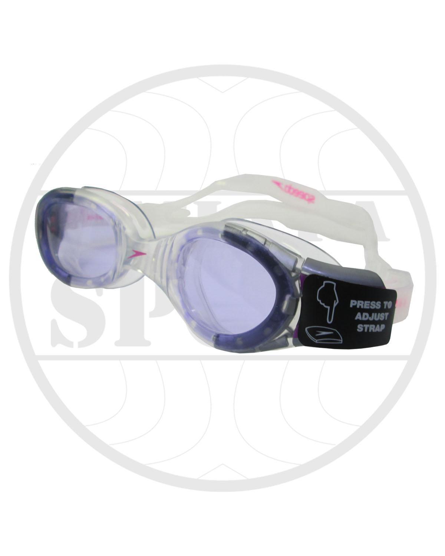 kacamata renang speedo original futura junior 6 - 14 thn - ungu clear