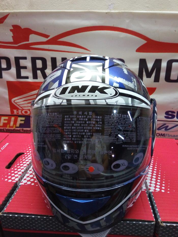 PROMO HELM INK CL MAX SOLID RANGER BLUE THE WINNING SPIRIT TERLARIS