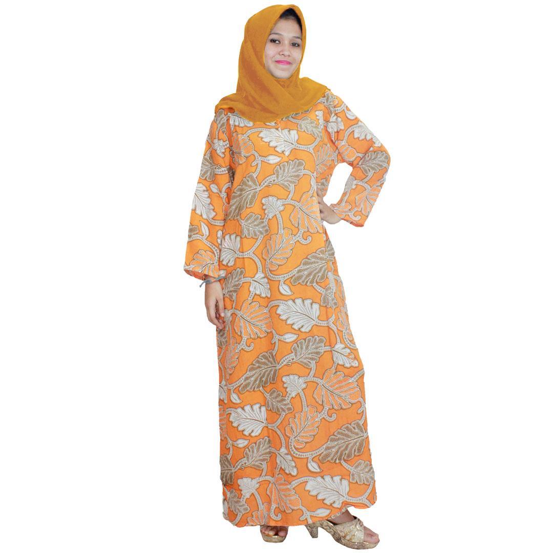 Longdres Batik, Daster Lengan Panjang, Baju Tidur, Kancing, Daster Bumil - Busui (LPT001-52) Batik Alhadi