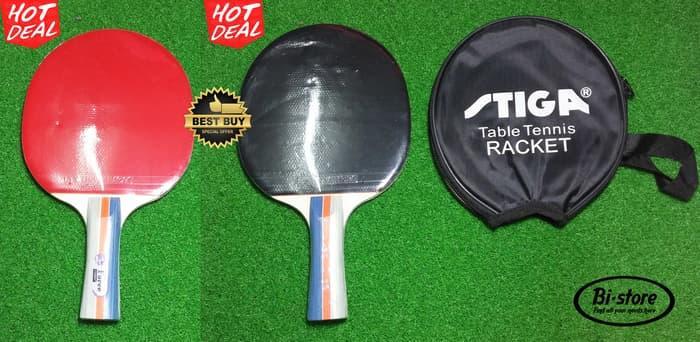 BEST SELLER!!! Bat / Raket Tenis Meja Stiga S-Force S204 Original Mantap + Cover - ojNcUq