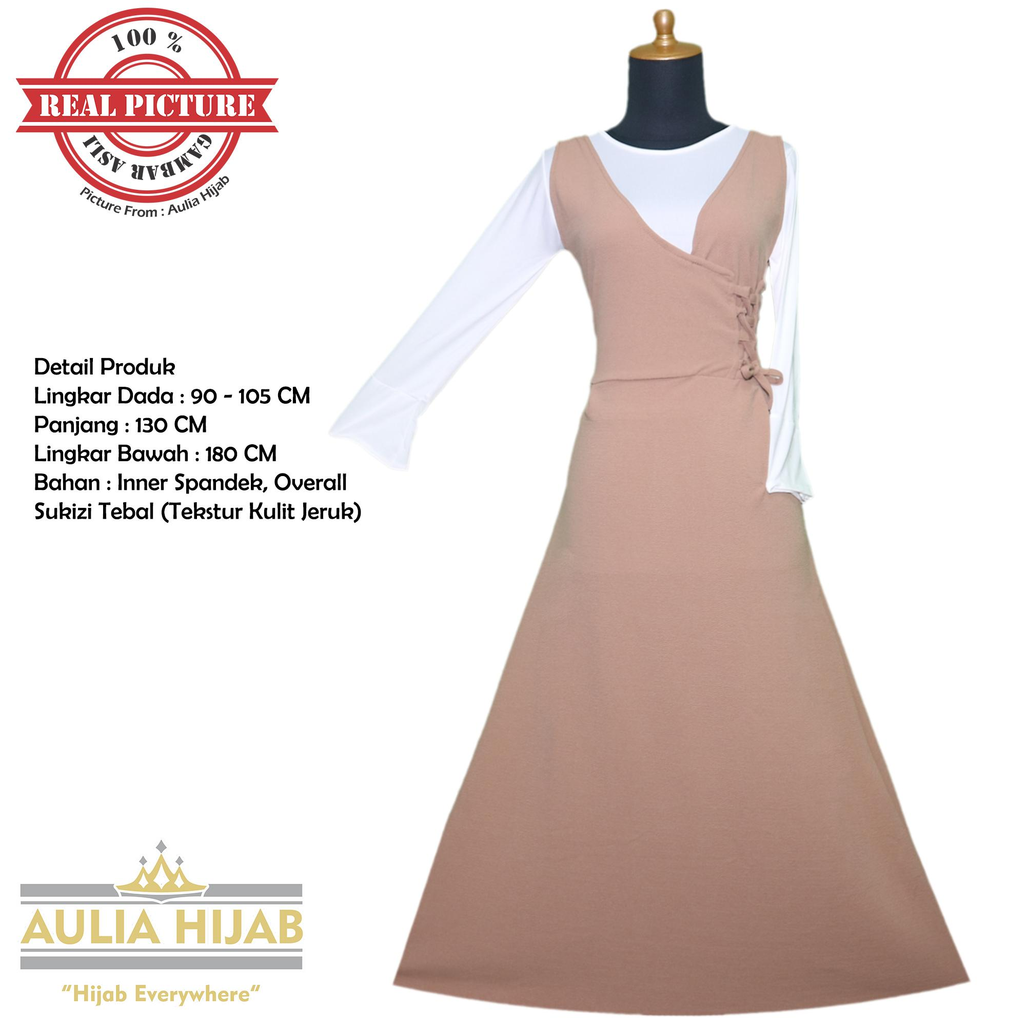 Aulia Hijab - Gamis Overall Annie Overall Bahan Sukizi Premium/Gamis Overall/Overall Murah/Gamis Langsung/Overall Terbaru/Baju Kodok/Gamis Pesta/Gamis Kerja/Gamis Sukizi/Gamis Premium/Sukizi Premium/Overall Gambar Asli/Overall Real Picture/Overall Premium