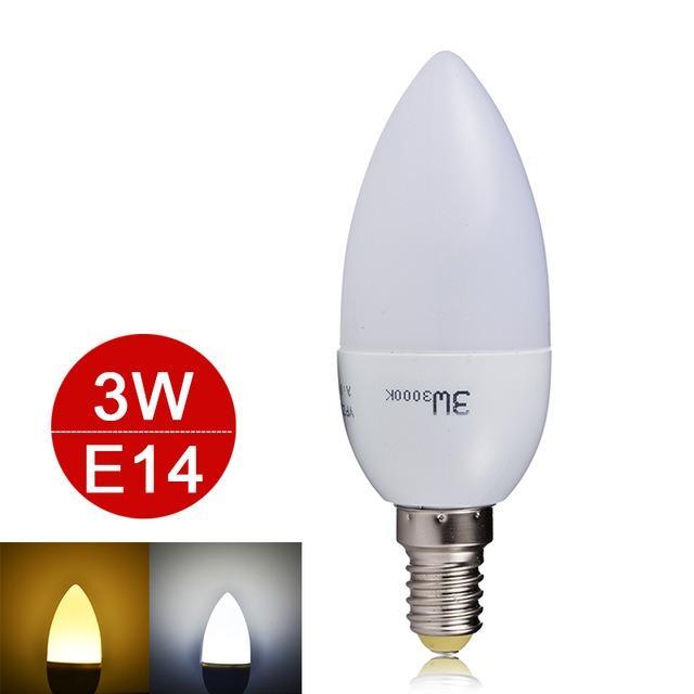 Led Lampu Candle LED 3W fitting E14 Hias 3 w watt bohlam lilin gantung HQ