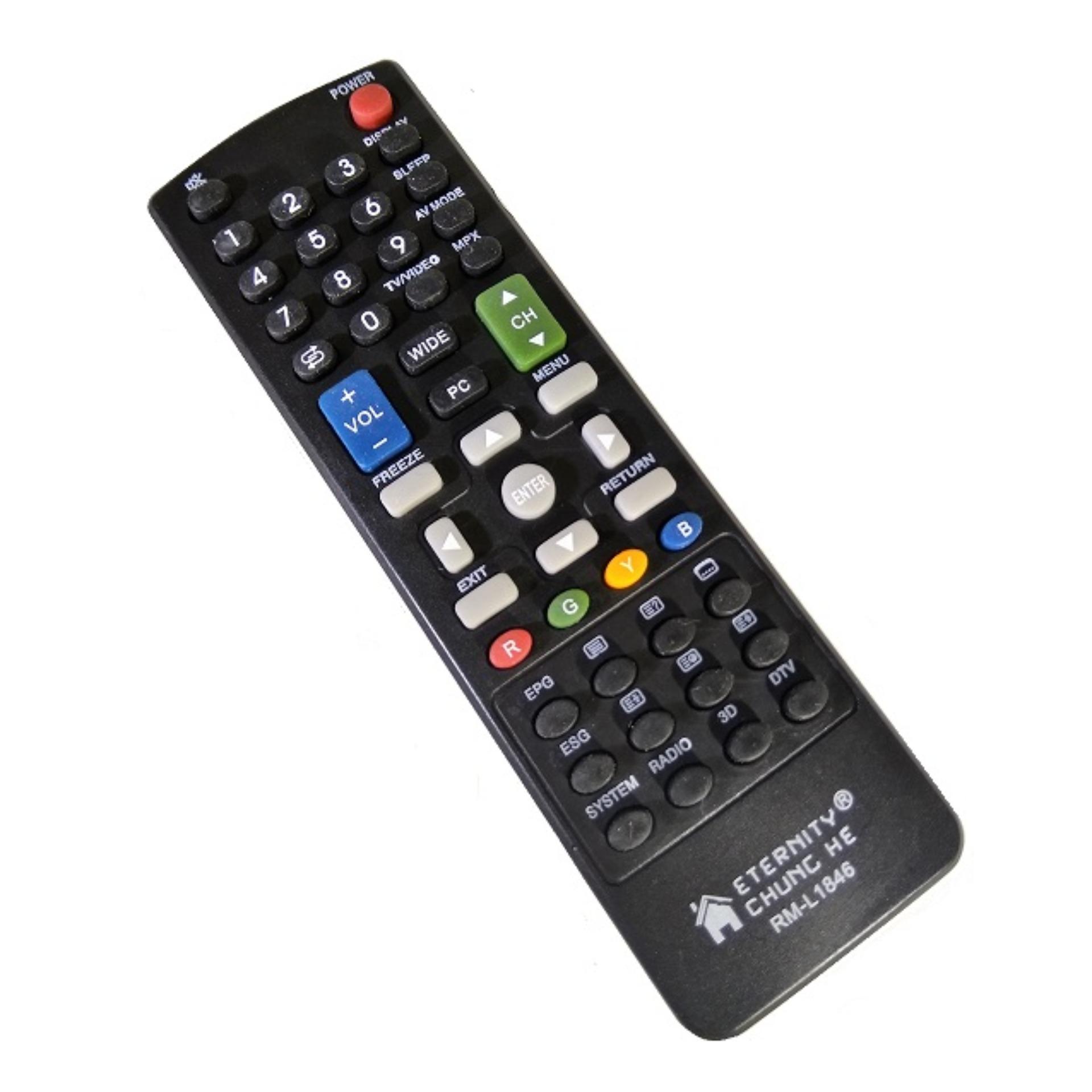 Remote TV Sharp Original 100% - Remot TV LCD LED - Hitam - LLS89