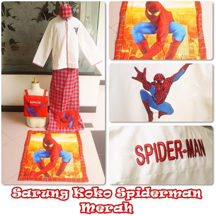 Baju Koko Spiderman Merah L / baju koko / baju koko anak / baju muslim / baju koko karakter / baju koko murah / baju koko keren / baju koko lucu / baju koko berkualitas