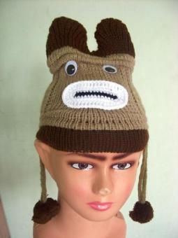 Pencarian Termurah Bayi balita anak topi kupluk musim dingin hangat gadis  bertudung topi rajutan syal Earflap c850eeb968