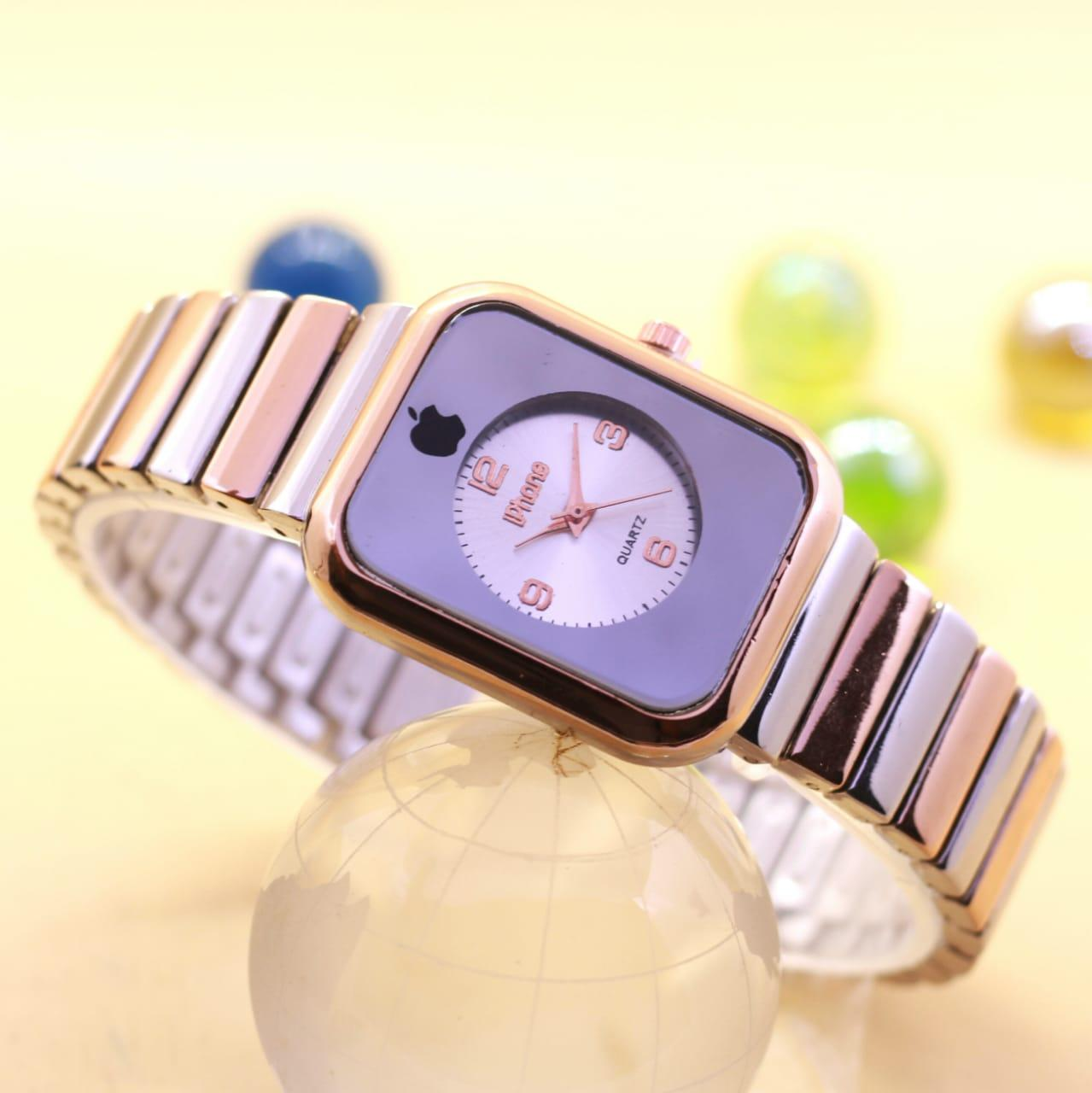 Jam Tangan Fashion Wanita Iphone Analog Rantai