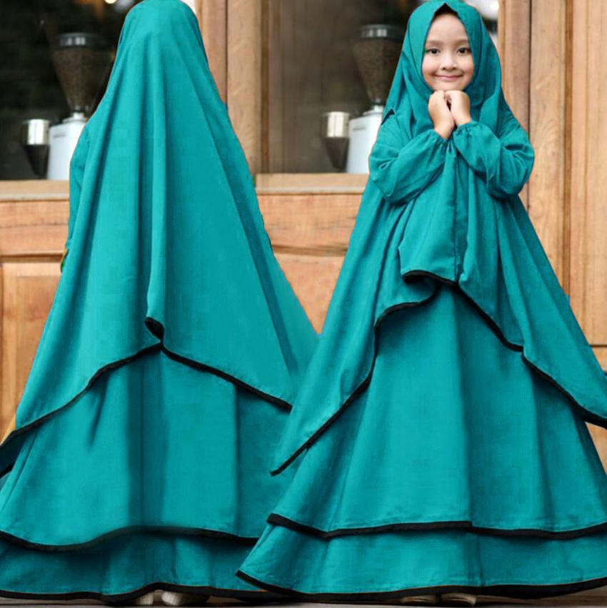 Yuki Fashion Syari Ramadhani Kids - Lavender 1 Untuk Anak Umur 7-10 Tahun