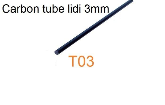 Terbaru!! Pipa Karbon Tube Carbon Lidi Spar Solid Rod 3Mm 500Mm 50Cm Rc Plane