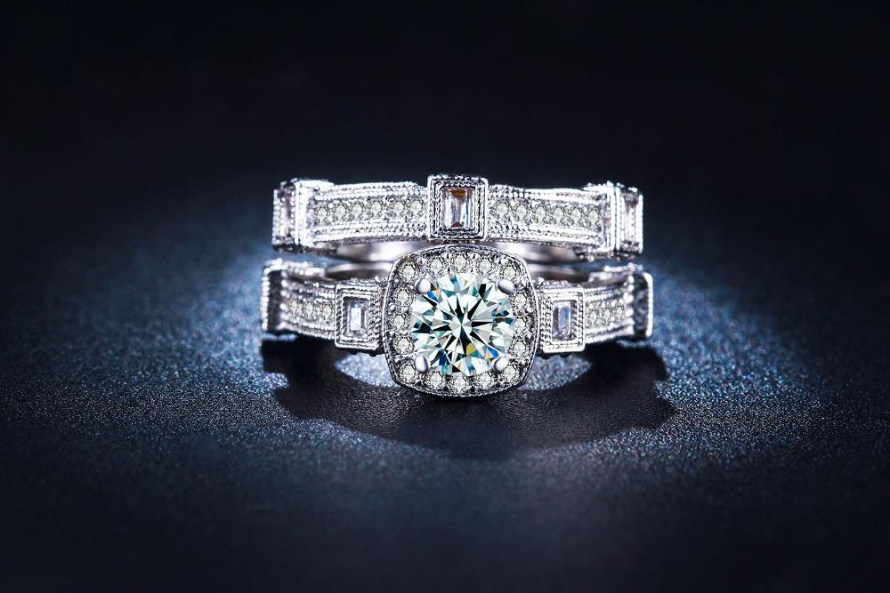 Diskon Promo Perhiasan Aksesoris Cincin Berlian Lapis Emas Putih Perhiasan Kalung Gelang BR077 Murah