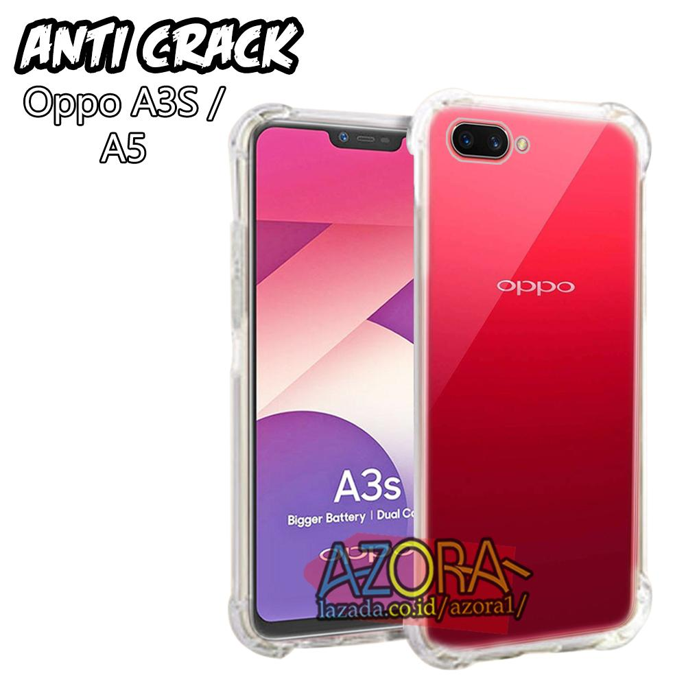 Case Anti Crack Oppo A3S 2018 / Realme C1 (sama ukuran) Ultra Thin Anti