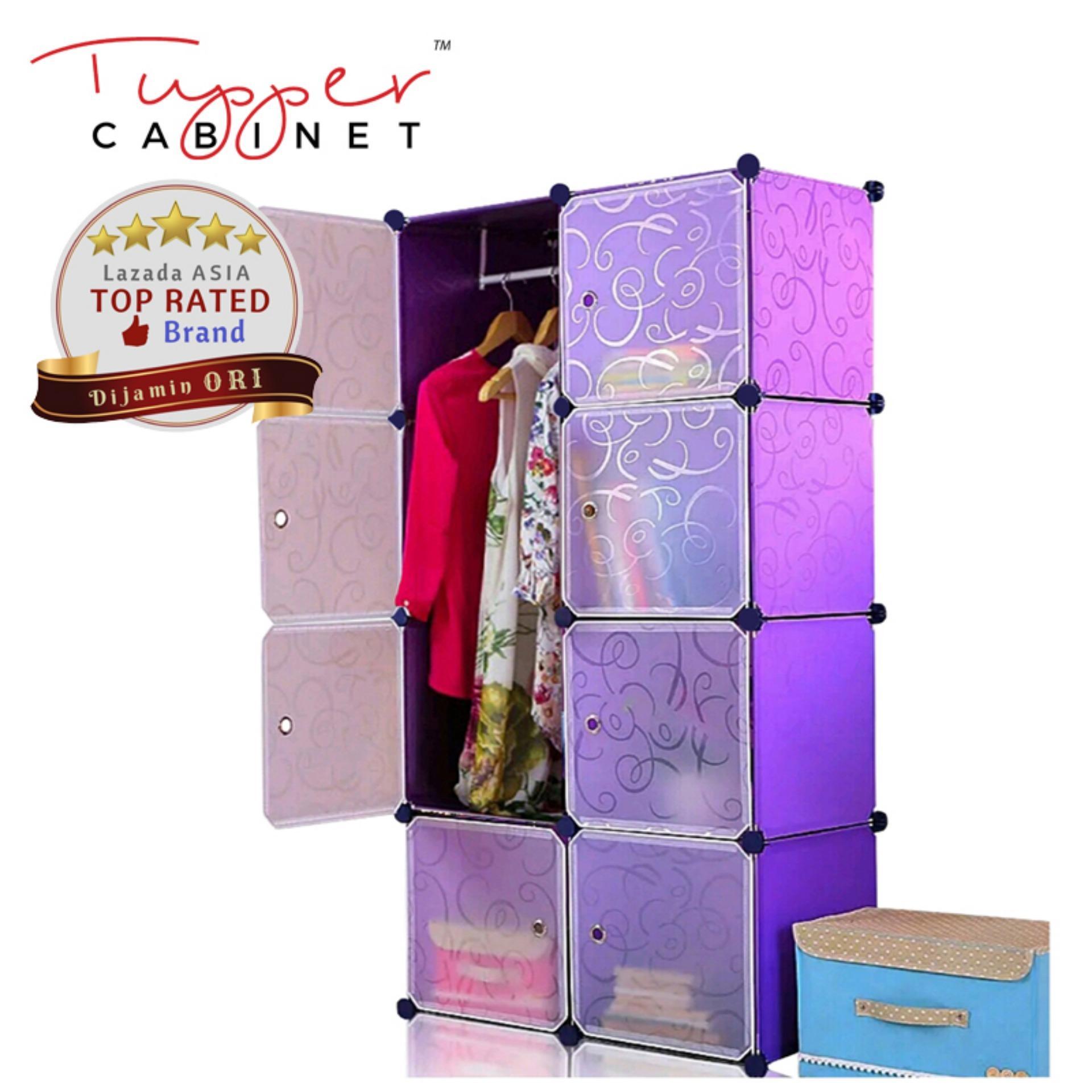 [Original] Tupper Cabinet DIY 8 Pintu Lemari Modern Korean Desain - Elegant Purple