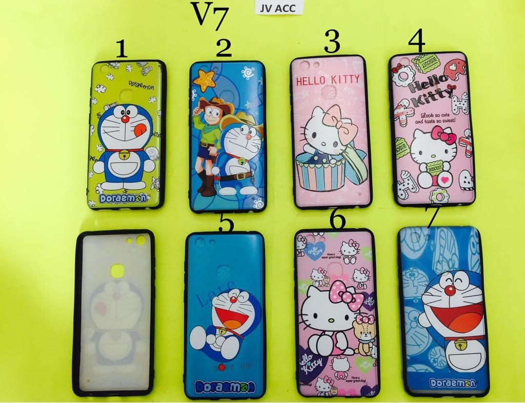 GROSIR FUZE CASE HELLOKITTY DORAEMON VIVO V7 KODE 2