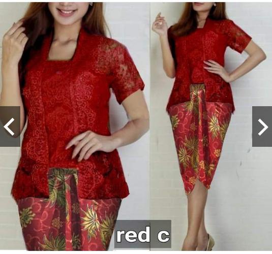 IndonesiaHeritage Setelan Kebaya Pesta Set Kutubaru Brukat + rok batik pesta wanita Fashion Seragam Kebaya Batik encim Gaun Pesta Tradisional Modern Kondangan Nikahan Kutubaru Brokat Wisuda Remaja Wanita Terbaru kekinian trendy ihvina