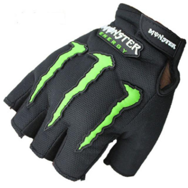 Sarung Tangan Motor Half Finger Monster Energy - Black