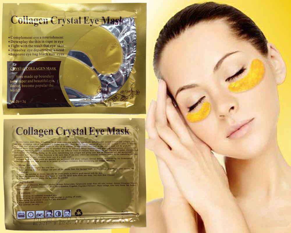 Jual Produk Collagen Terbaru Bibit Colagen Pemutih Crystal Eye Mask Masker Mata 10 Pcs