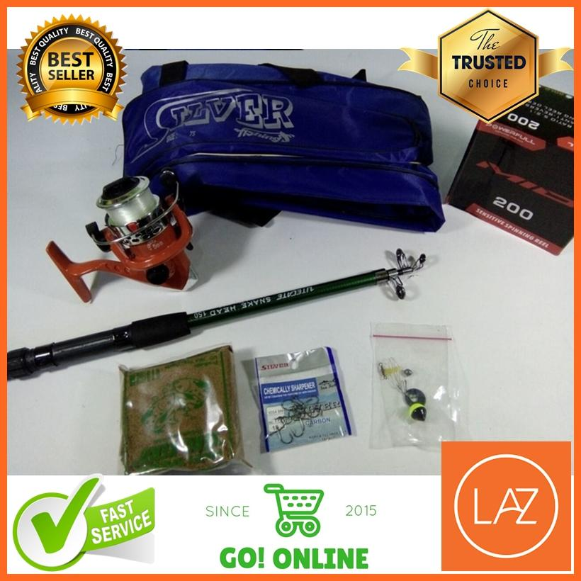 Set Pancing / Alat Pancing Murah 180 5 Ball Bearings Drag 5 kg + Tas