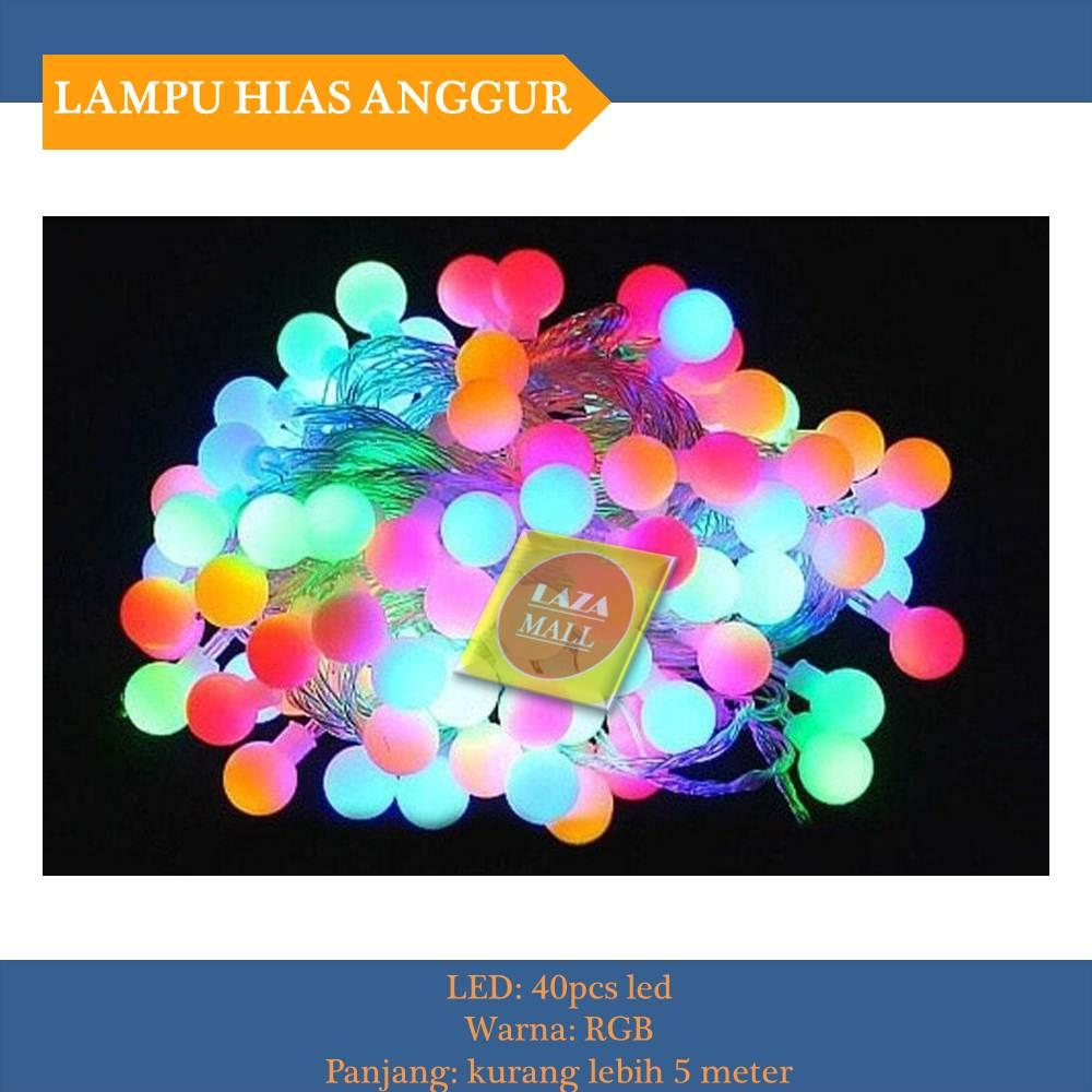 Buy Sell Cheapest Lampu Led Anggur Best Quality Product Deals Natal Twinkle Light Tumblr Bulat Bola Warna Warni Rgb 5 Meter