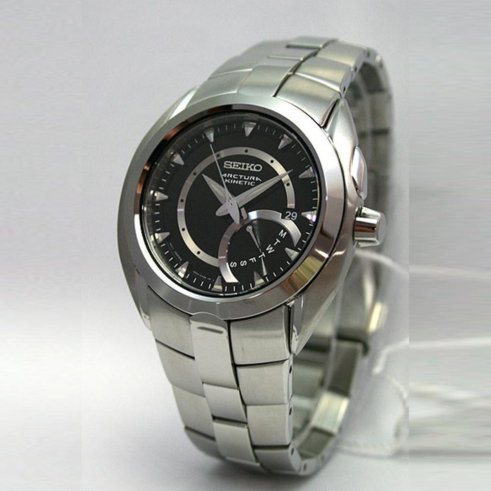 Seiko Arctura SRN009P1 Kinetik Black Dial SS Bracelet - Jam Pria SRN009 Best N2jt