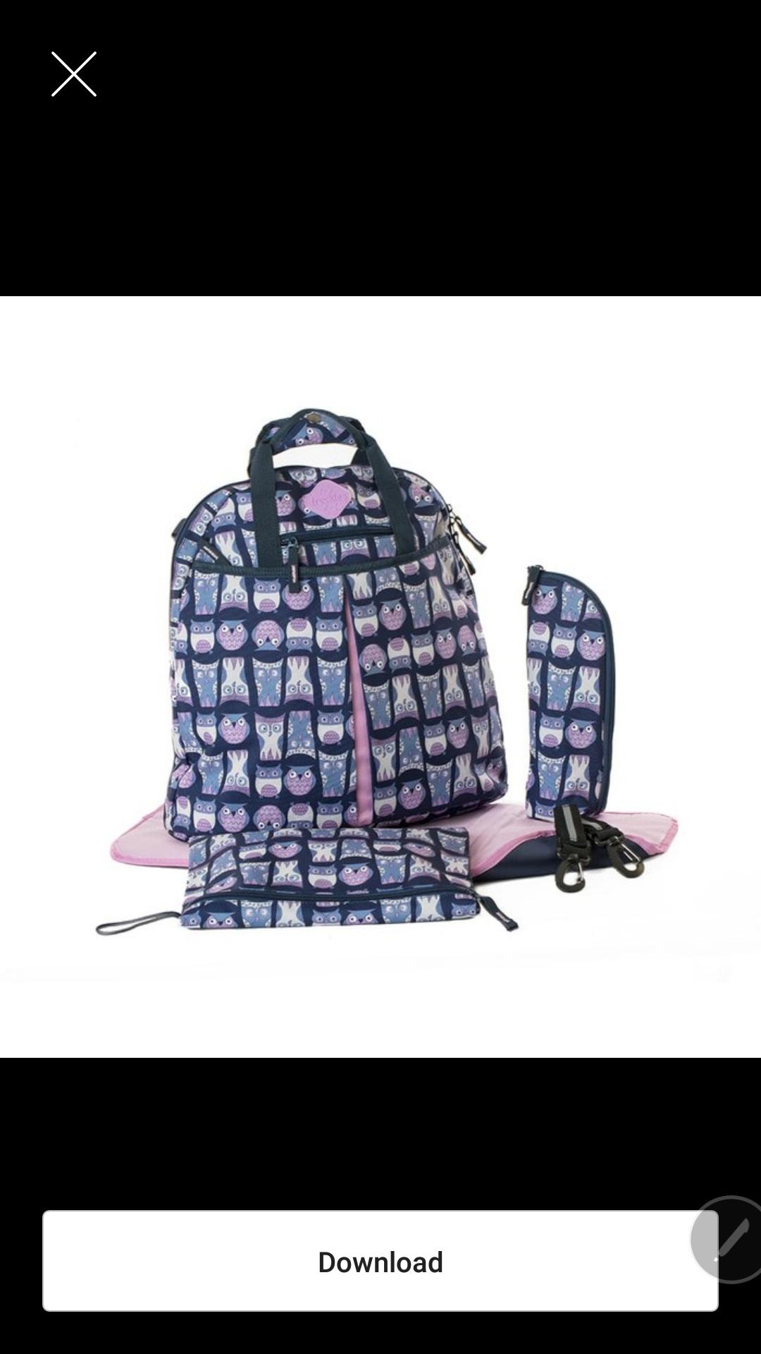 Okiedog Freckles Backpack Rombe Size 36 X 18 40 Cm Color Purple Owl Blue Pink Tas Bayi