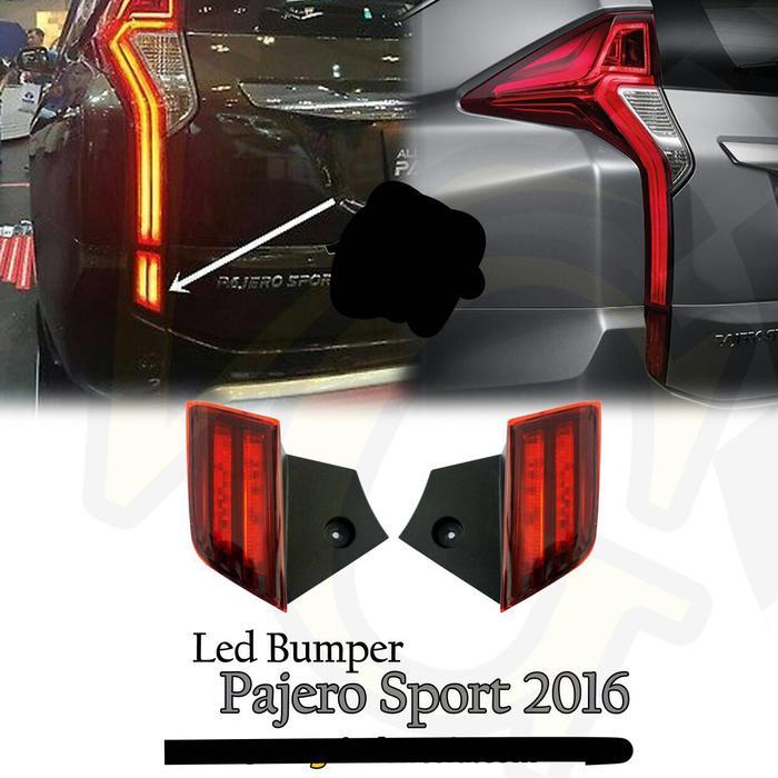 Led Stoplamp / Mata Kucing Reflektor Belakang All New Pajero Sport | ( lampu  mobil hid plafon depan rem sorot led h4 kabut fog lamp tembak variasi strobo rem toyota innova hid avanza osram )