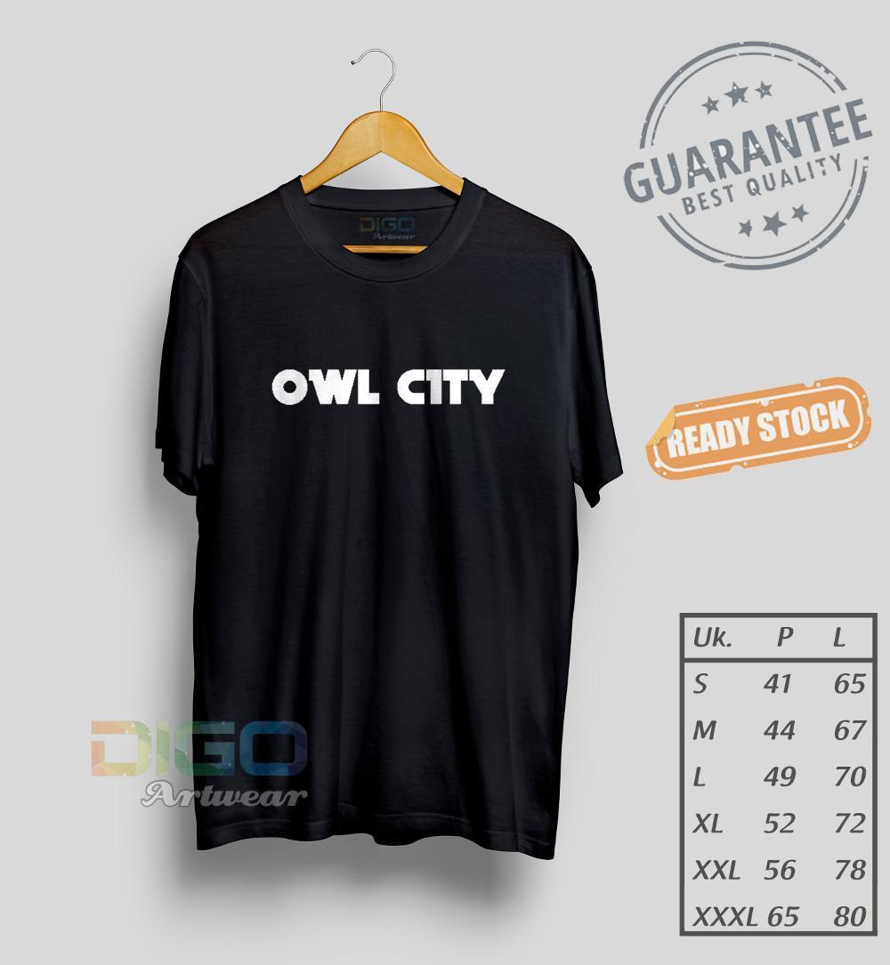 Kaos Owl City Distro Keren Dan Cool Premium Quality Ready Size S M L Xl Xxl