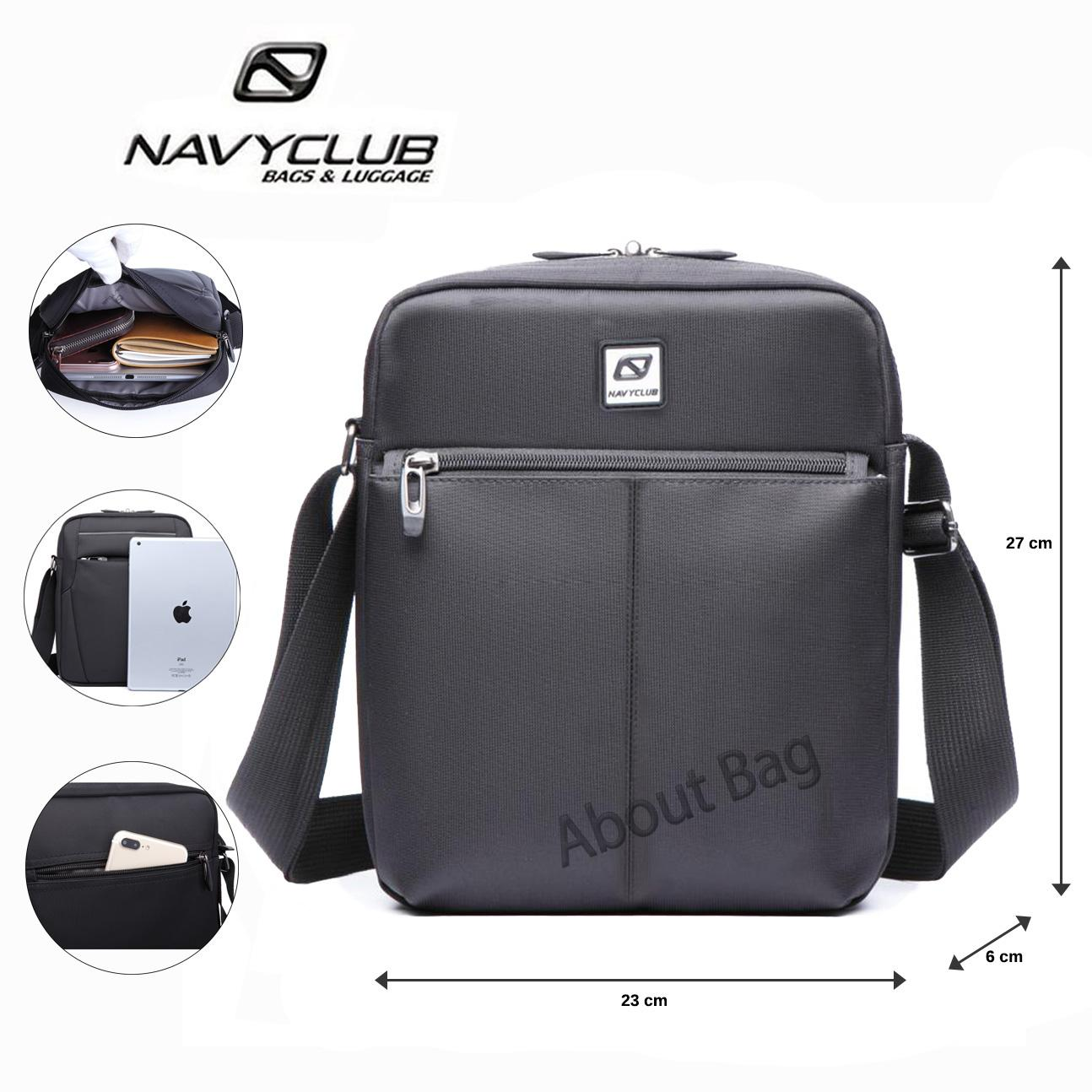 Navy Club Tas Selempang Sling Bag Tablet Ipad Tahan Air EEEA - Hitam