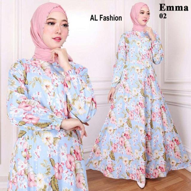 Gamis Wanita  -  maxi emma gamis syari busana muslim wanita  pakaian murah ( MAXI AJA