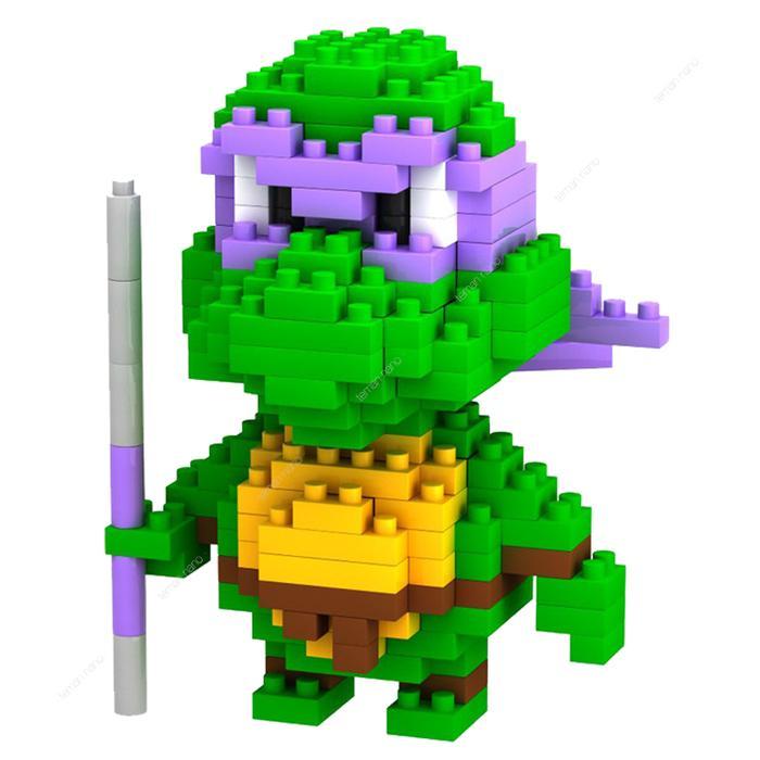 BEST SELLER!!! LOZ Lego Nano Block Nanoblock Ninja Turtle Donatello Purple - F15Ffc