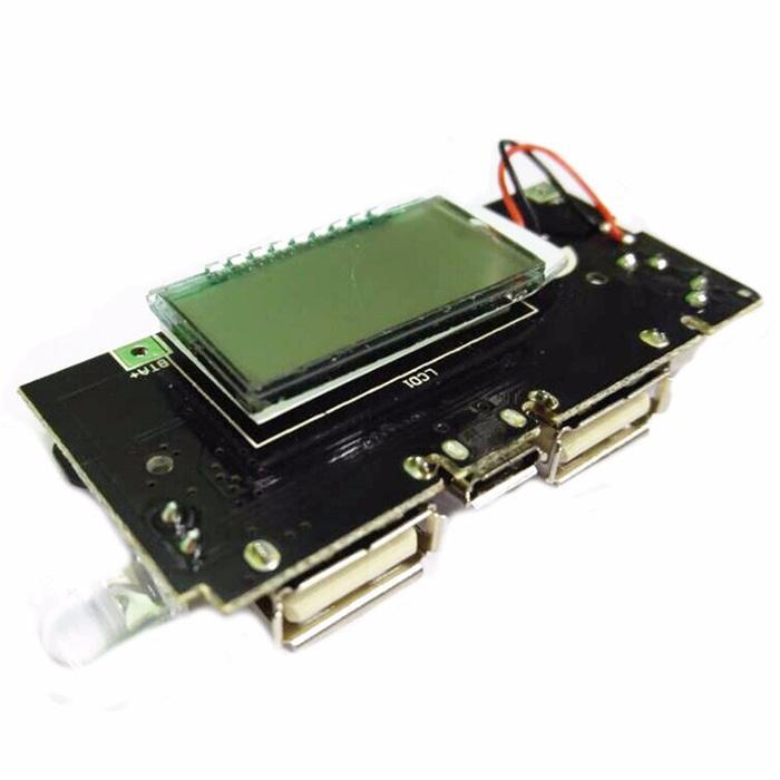 HARGA SPESIAL!!! DIY Circuit Board 2 USB Port LCD Display 5V 1A 2.1A For Power Bank - H7fYr0
