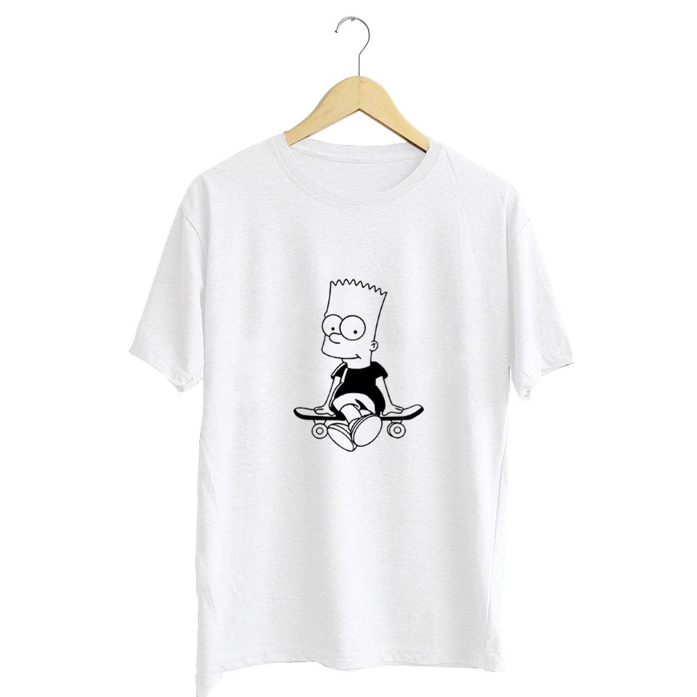 kaos distro simpson skate cotton combed 30s