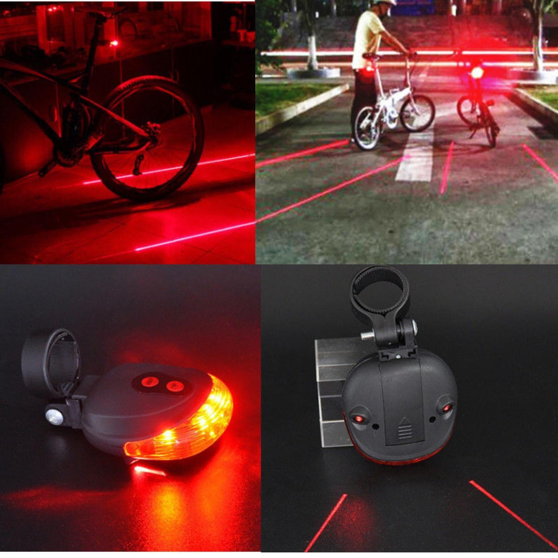 Laser Sepeda Strobo Tail light Lampu LED Kedip Laser Sepeda Bicycle TERMURAH