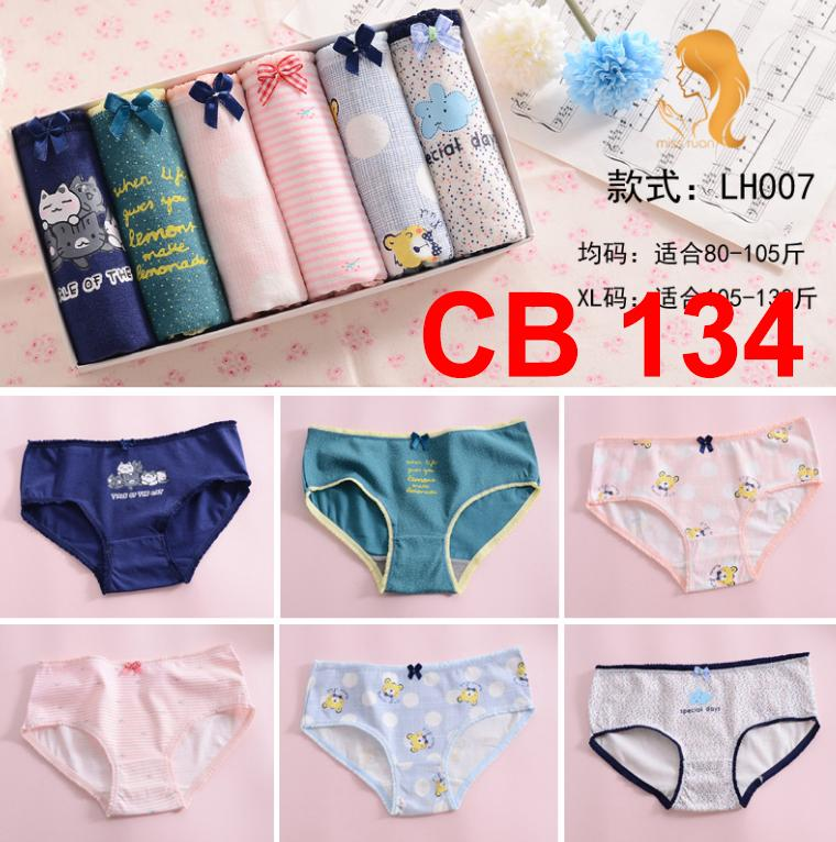 7ColourBox Celana Dalam Box Underwear Brief Wanita Cute Korean Style - M ( 6 )