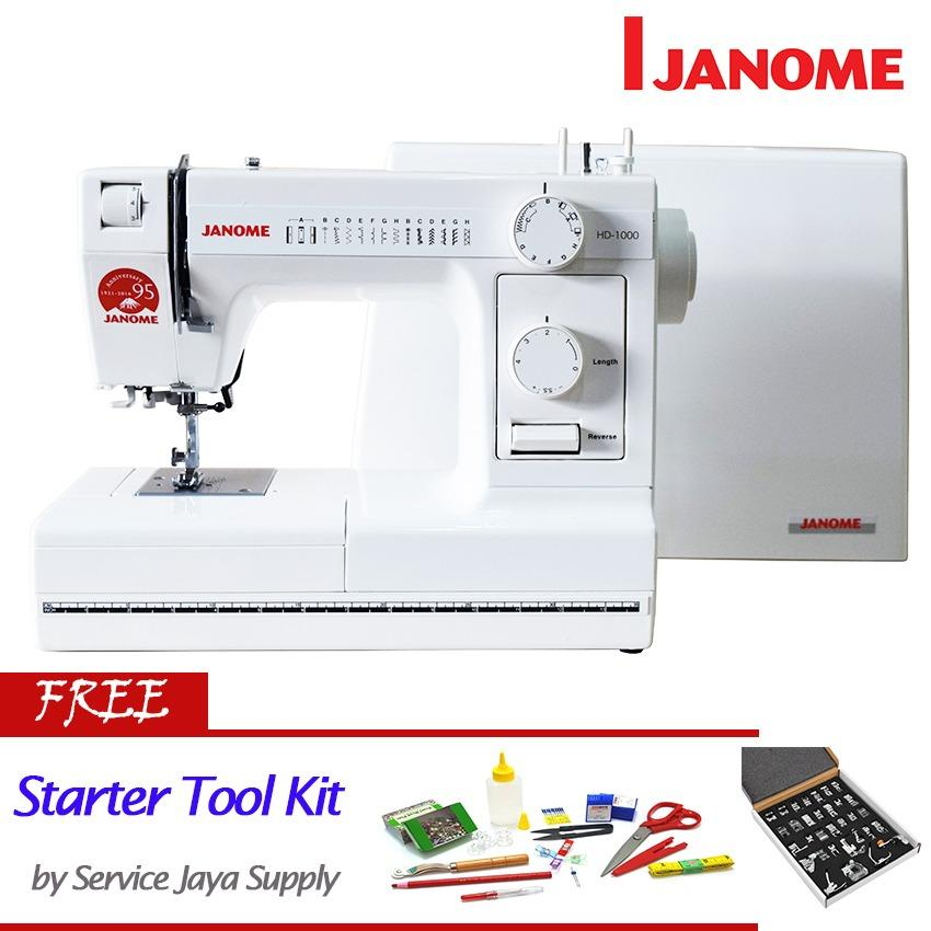 Janome HD 1000 Mesin Jahit Portable +FREE SJS Starter Kit