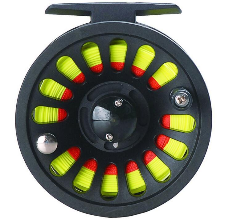 LumiParty 1+1B Bearing Fly Fishing Reel Fishing Line + Extension Line+Taper Leader+Tippet Set